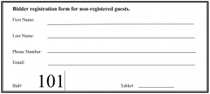 BidStation Manual Guest Registration Card