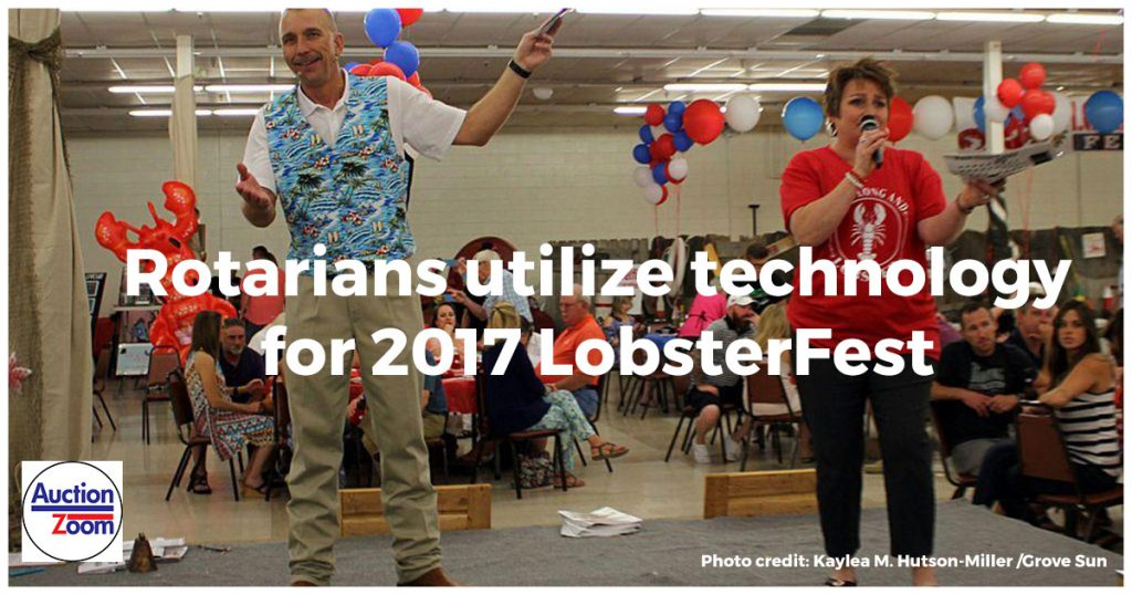 PayStation silent auction payment system at Rotary LobsterFest Auction 2017